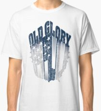 Old Glory Nation: Navy/Grey Classic T-Shirt