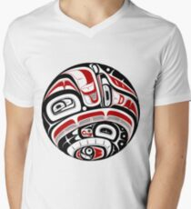 Northwest Tribal Art Men's V-Neck T-Shirt