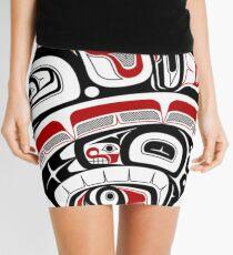 Northwest Tribal Art Mini Skirt