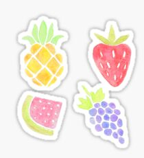 Watercolor Fruit Pattern Sticker