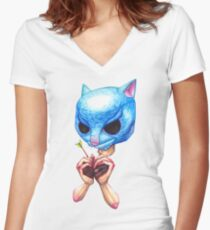 The Purrrge Women's Fitted V-Neck T-Shirt