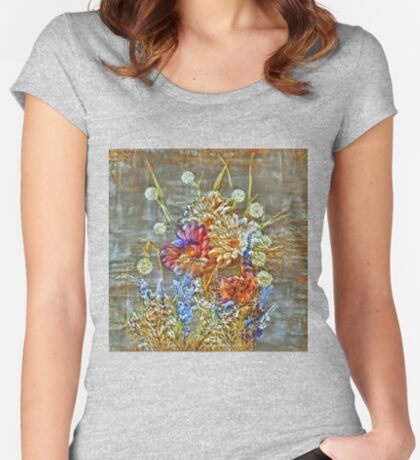 Flowers Fitted Scoop T-Shirt