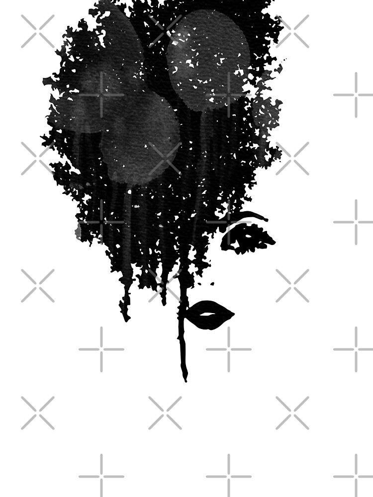 Inky Hair Girl by whya