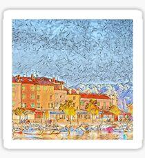 Rovinj Harbour (Croatian Sealine) in Spring Sticker
