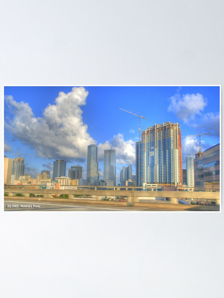 Alternate view of Downtown Miami - DSC_1550 Poster