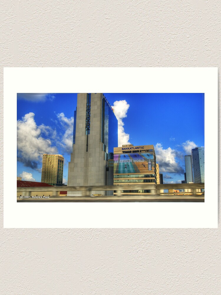 Alternate view of Downtown Miami - DSC_1551 Art Print