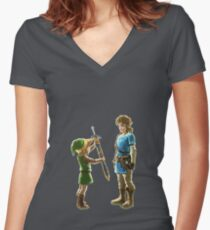 Old Link to New Link Women's Fitted V-Neck T-Shirt