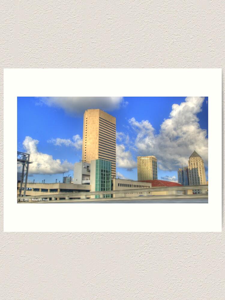 Alternate view of Downtown Miami - DSC_1552 Art Print