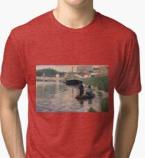 Georges Seurat - View Of The Seine Tri-blend T-Shirt