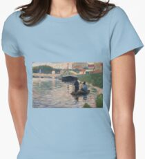 Georges Seurat - View Of The Seine Womens Fitted T-Shirt