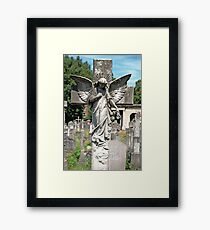 Angel with bowed head Brompton Cemetery Framed Print