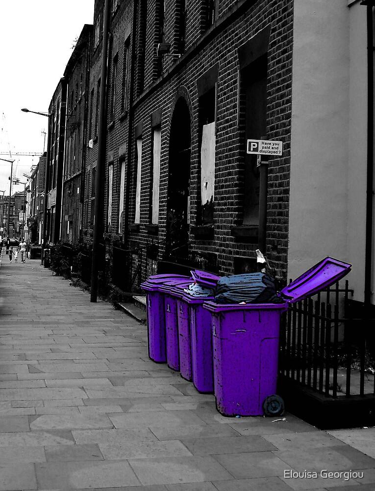 Purple bins by Elouisa Georgiou