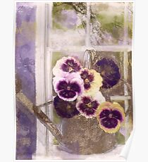 Cottage Pansies Poster