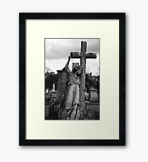 Angel with cross Brompton Cemetery Framed Print