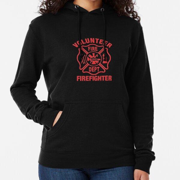 Proud to Be an American Firefighter Hoodie Volunteer Fireman FD Sweatshirt