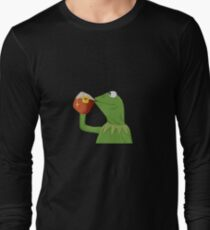 But That's None Of My Business- Kermit the Frog Long Sleeve T-Shirt