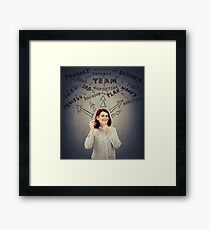 Successful businesswoman thoughts Framed Print