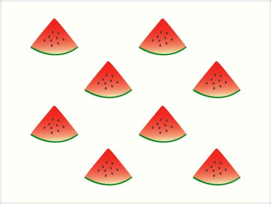 58fe68de3 Láminas artísticas «Sandía fresca y con sabor a fruta» de ...