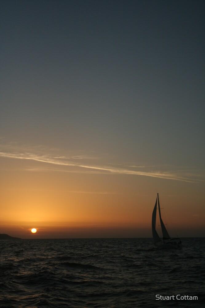 Sunset Sailing by Stuart Cottam