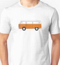 VW Type 2 Orange Unisex T-Shirt