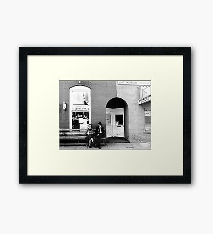 Barber Shop Watertown Tennessee Framed Print