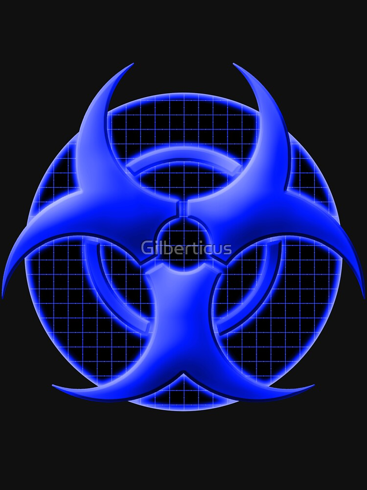 Blue Biohazard Symbol Unisex T Shirt By Gilberticus Redbubble