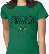 A holly, jolly Christmas? Womens Fitted T-Shirt