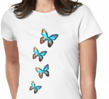 Space Butterfly, Butterflies, Galaxy, Universe, Planet, Nature Womens Fitted T-Shirt