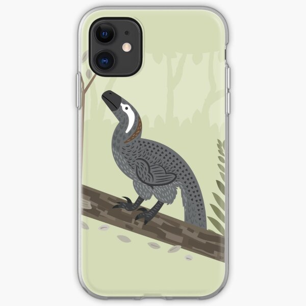 Utahraptor in the Forest iPhone Soft Case