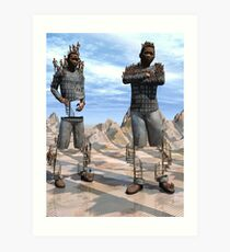 Standing About Art Print