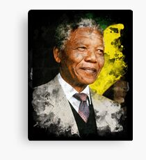 Nelson Mandela Watercolour Canvas Print