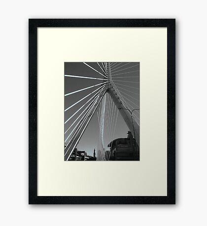 Zakim Bridge Framed Print