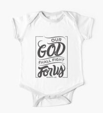 Our God Shall Fight For Us - Christian Bible Verse Kids Clothes