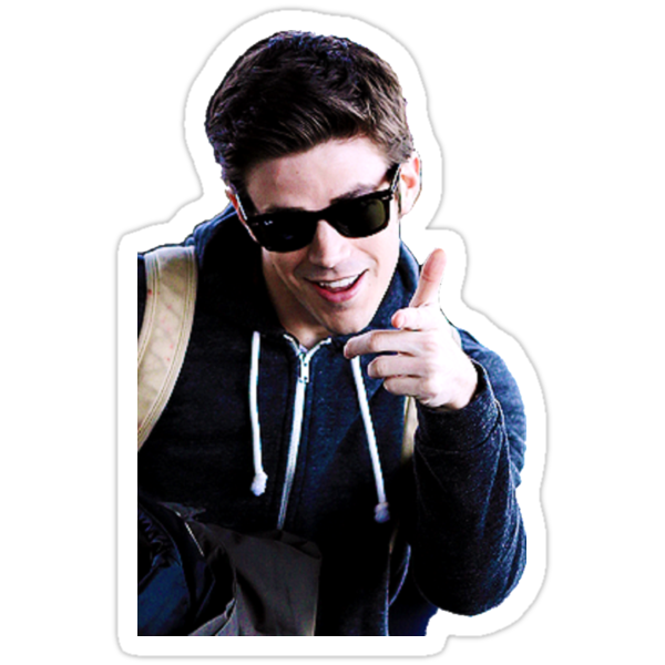 Quot Grant Gustin Quot Stickers By Megflats Redbubble