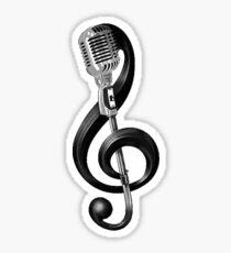 Pegatina Clave de violín y micrófono