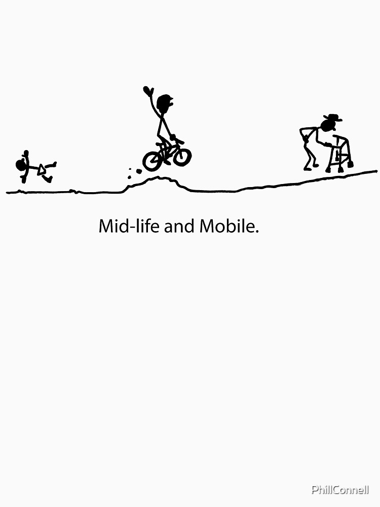 Mid Life And Mobile - Cycling Cartoon by PhillConnell