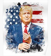 Donald Trump Watercolour Poster