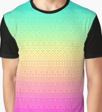 16 Bit Pixelart Bright Rainbow Color Fade Cute Nerdy Graphic T-Shirt