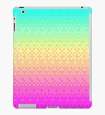 16-bit Pixelart Bright Rainbow Color Fade Cute Nerd iPad Case/Skin
