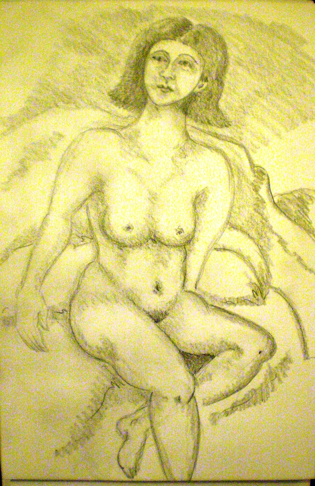 cute nude drawing by madvlad