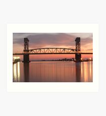 Cape Fear River Sunset Art Print