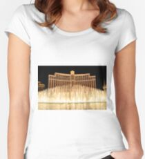 The fountains at Bellagio Women's Fitted Scoop T-Shirt