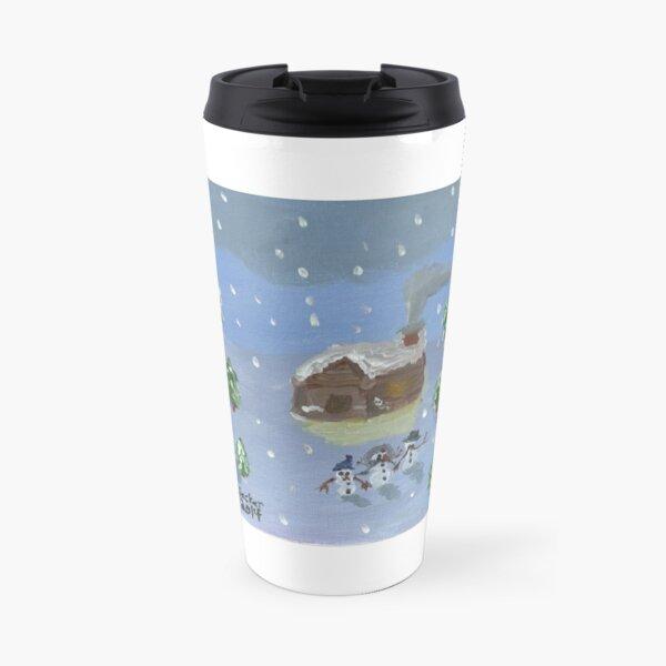 Snowy Cabin Travel Mug
