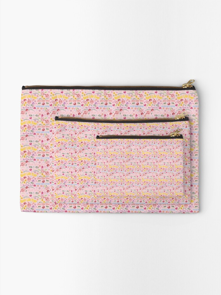 Alternate view of Best Life Ever Spring Pink Zipper Pouch