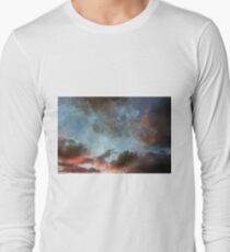 Damask Textured Cloud Sky Photography T-Shirt