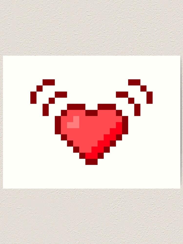 Impression Artistique Battre Le Coeur Pixel Art Par Jcpixeline Redbubble