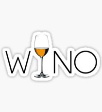 Wino Wine Lover Glass Sticker