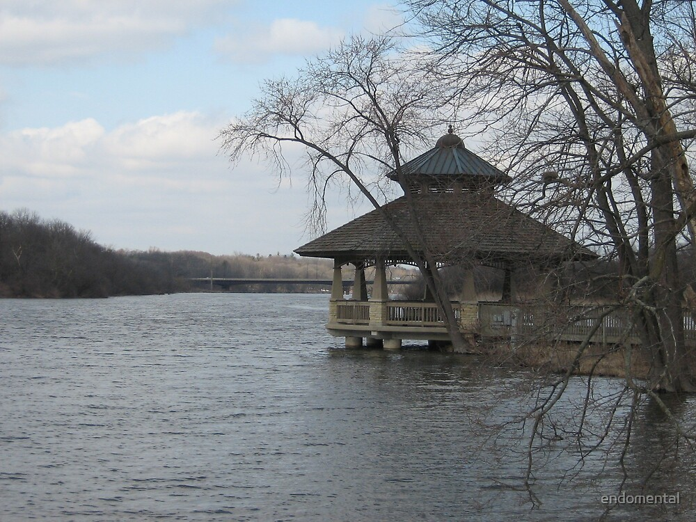 Gazebo on the river by endomental