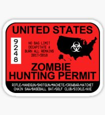 Zombie Hunting Permit 2017 Sticker