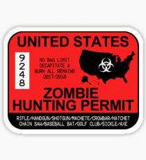 Zombie Hunting Permit 2017 Sticker